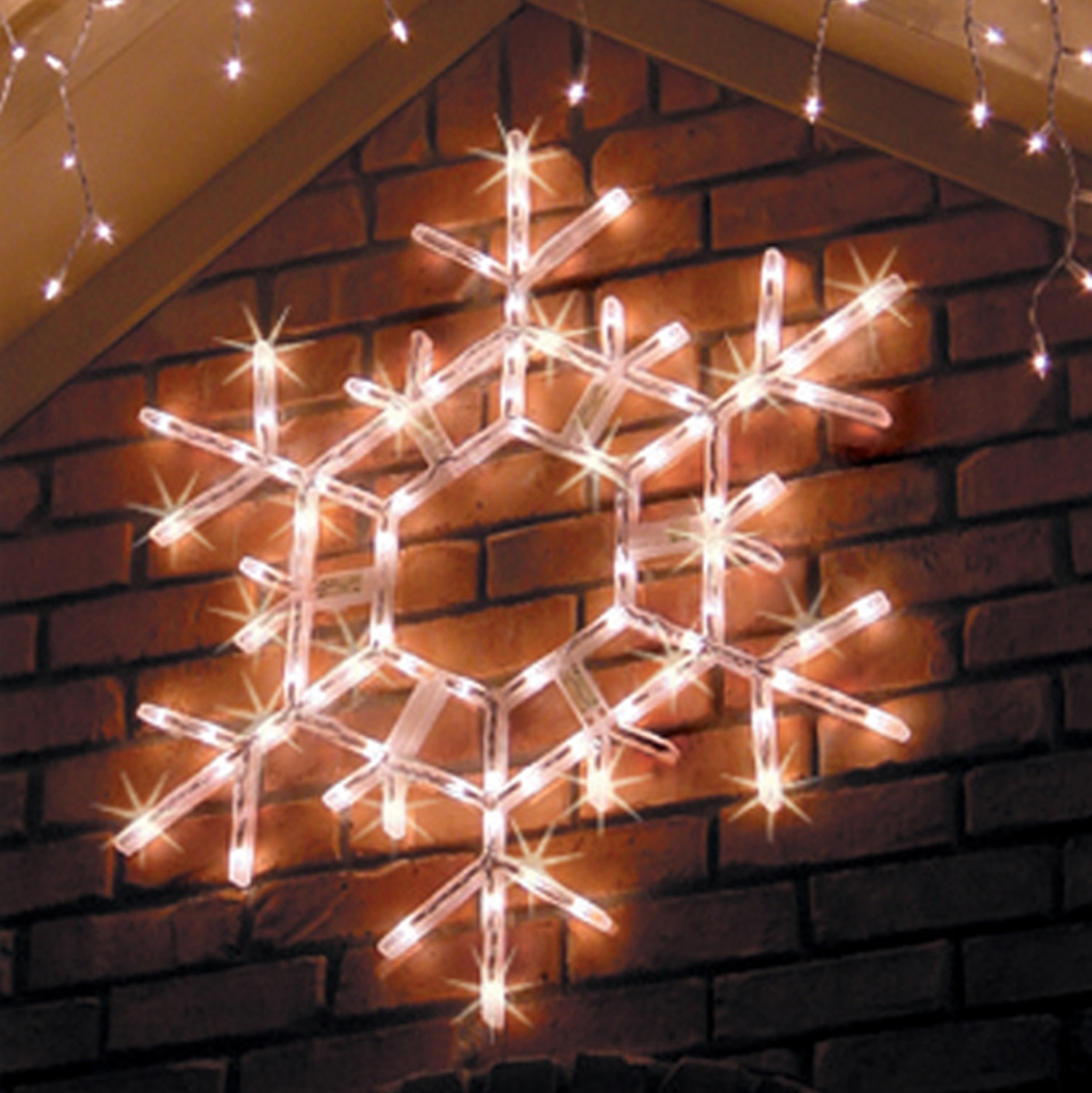 Lighted Outdoor Yard Decorations | Yard Decorations, Snowflake Within Outdoor Hanging Ornament Lights (#11 of 15)