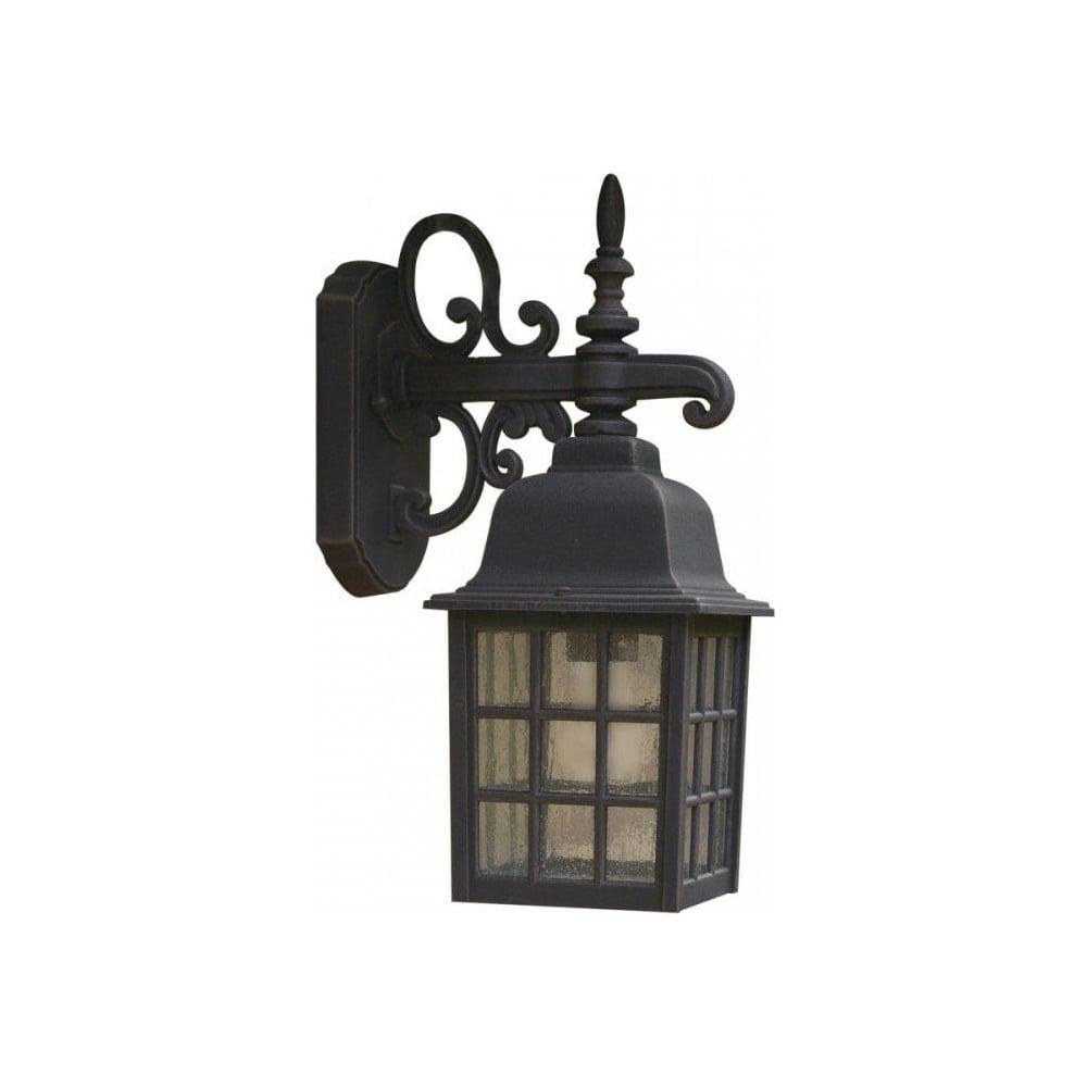 Lighting : Dar Lighting Norfolk Black Outdoor Wall Light Nor1522 Intended For Pir Solar Outdoor Wall Lights (#9 of 15)
