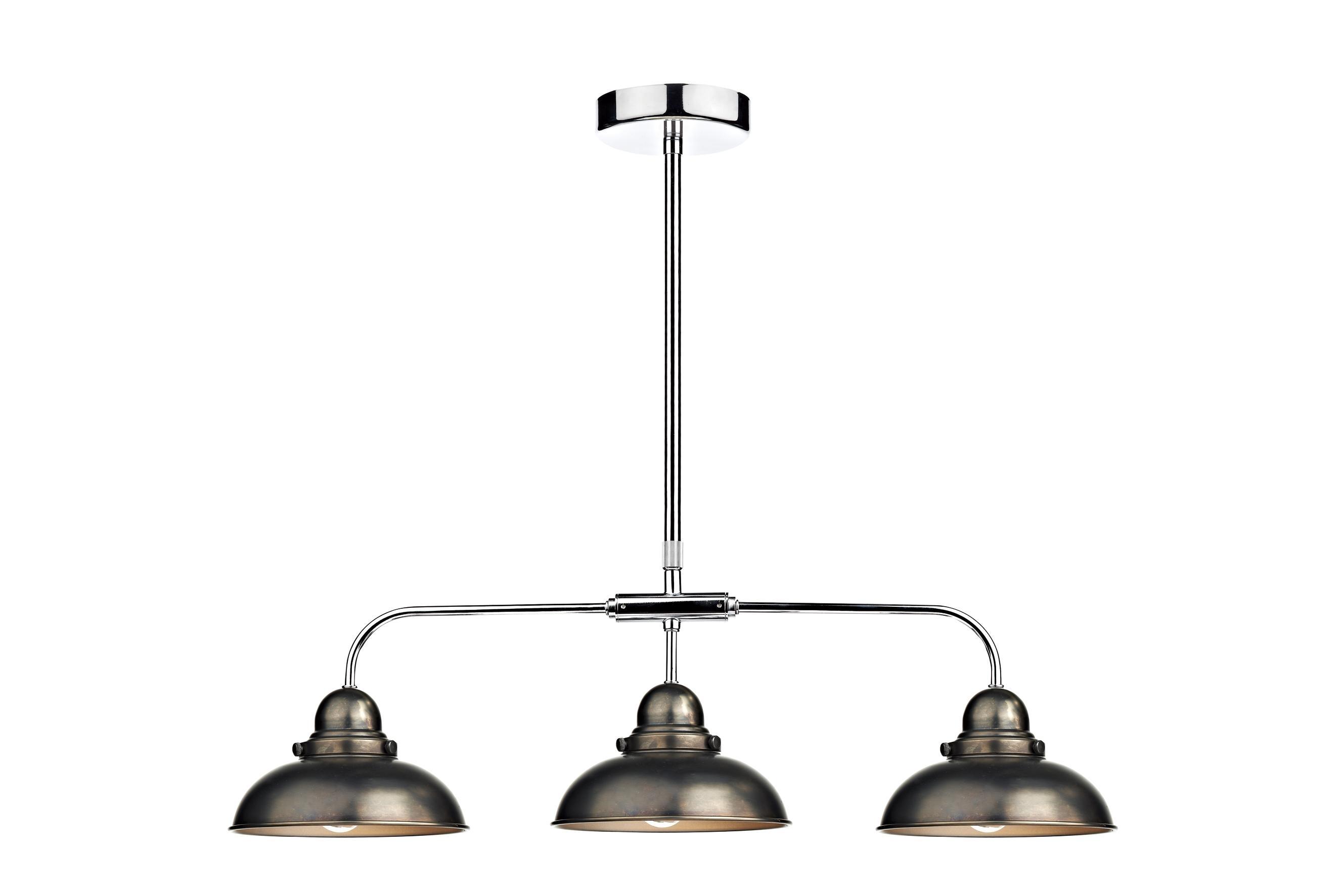 Lighting Design Ideas: Best Nickel 3 Light Pendant Fixture High Within Outdoor Hanging Bar Lights (#8 of 15)