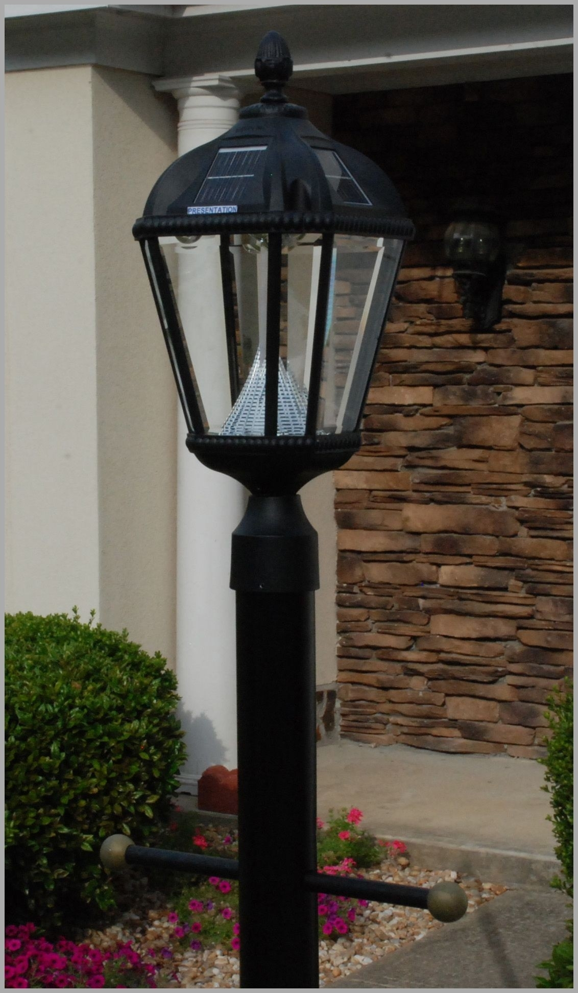 Lighting : Driveway Street Lamps Home Depot Gas Solar Lamp Post Regarding Modern Led Post Lights At  Home Depot (#9 of 15)
