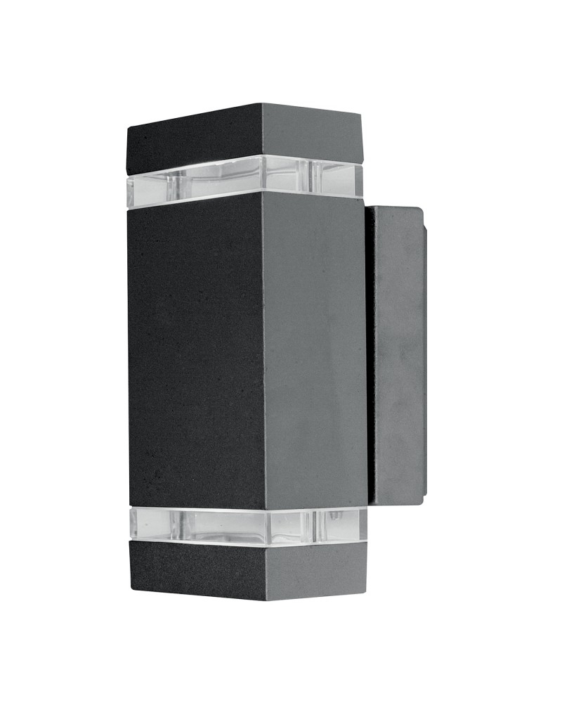 Inspiration about Lighting Focus Led 7.6W Outdoor Twin Wall Light In Dark Grey Finish In Grey Outdoor Wall Lights (#6 of 15)