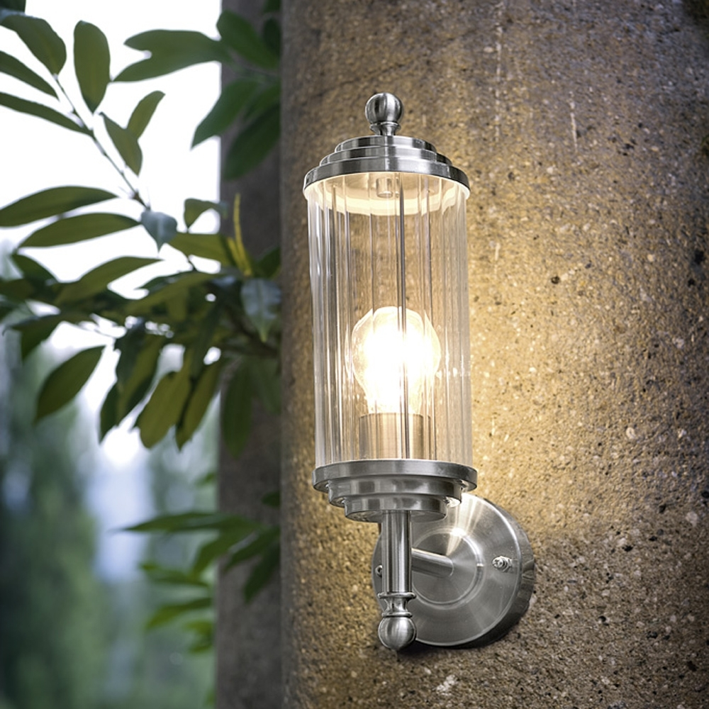 Lighting Ideas: Outdoor Brushed Nickel Wall Sconceseglo Lighting With Nickel Polished Outdoor Wall Lighting (#13 of 15)