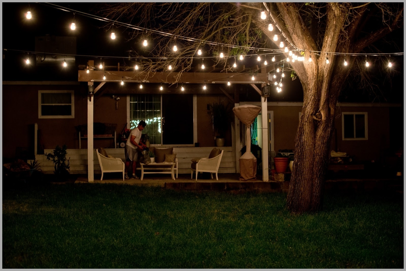 Lighting : Jaw Dropping Beautiful Yard And Patio String Lighting With Regard To Modern Outdoor Solar Lights At Target (#5 of 15)