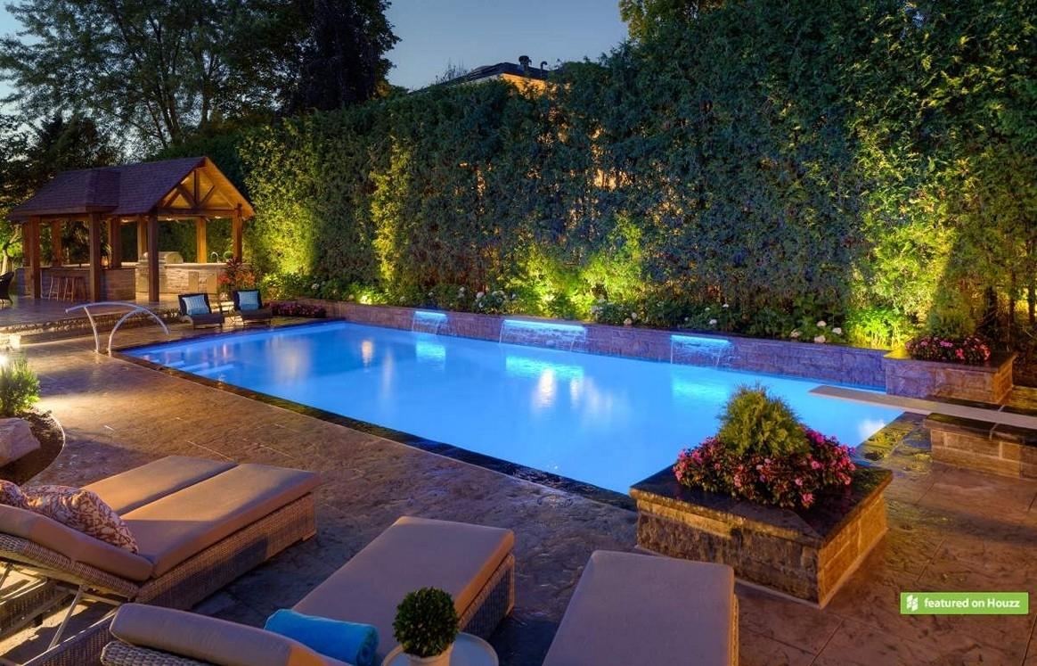 Lighting : Landscape Lightingas Richmonds Walkways Around Pool Intended For Outdoor Hanging Pool Lights (#11 of 15)