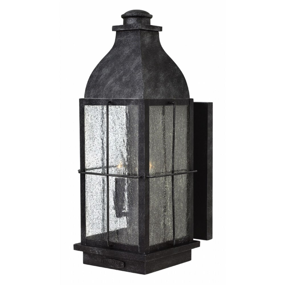 Lighting Outdoor Bingham Large Wall Mount Greystone 2045Gs Ll Throughout Large Wall Mount Hinkley Lighting (#9 of 15)