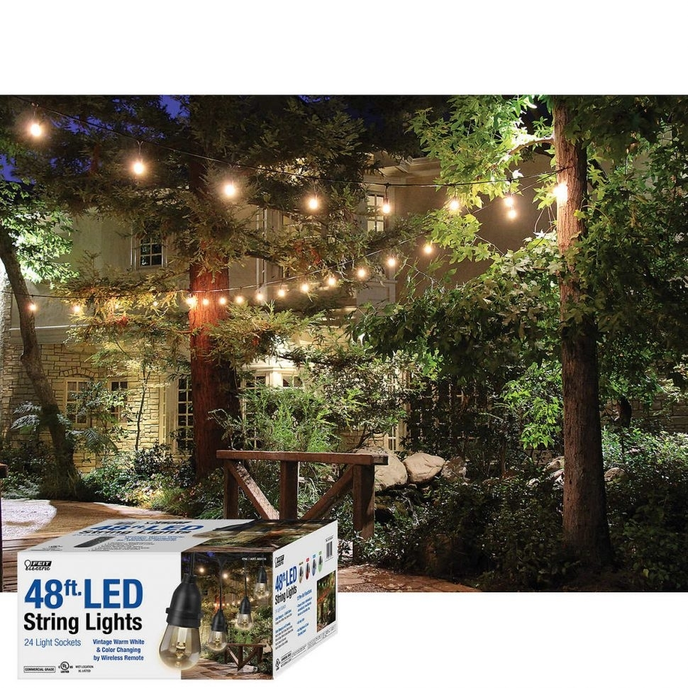 Outdoor Patio Lights At Costco: 15 Best Collection Of Hanging Outdoor String Lights At Costco