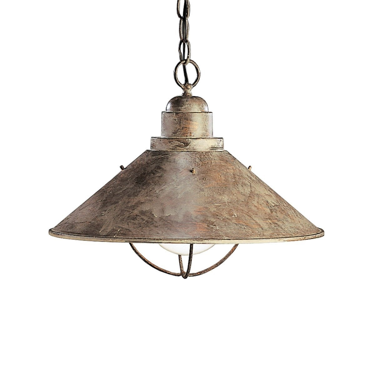 Lighting : Rustic Outdoor Pendant Lighting Kichler 2713Ob One Light Throughout Rustic Outdoor Hanging Lights (#9 of 15)