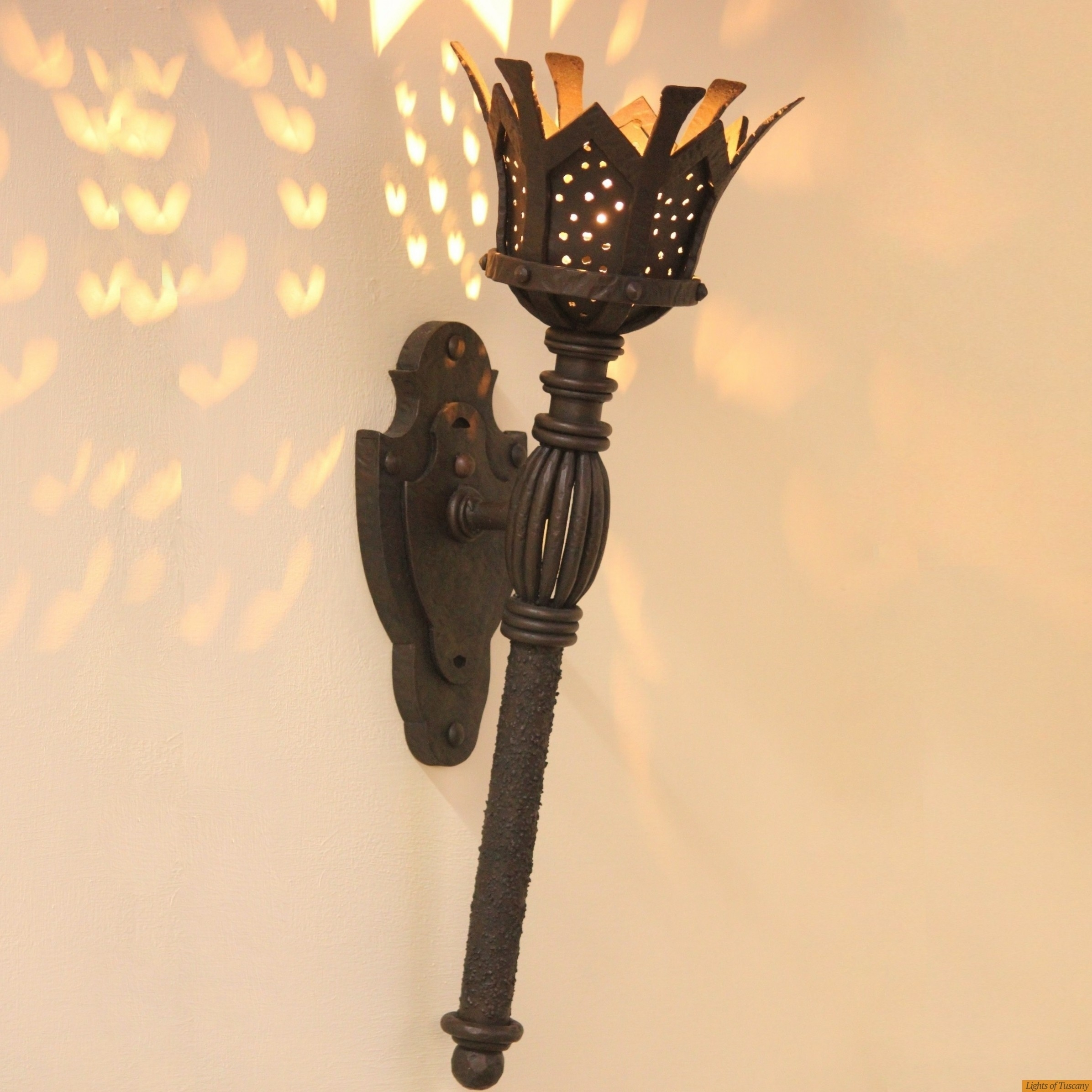 Lights Of Tuscany 5246 1Ol Authentic Gothic/ Medieval Torch Light In Gothic Outdoor Wall Lighting (View 4 of 15)