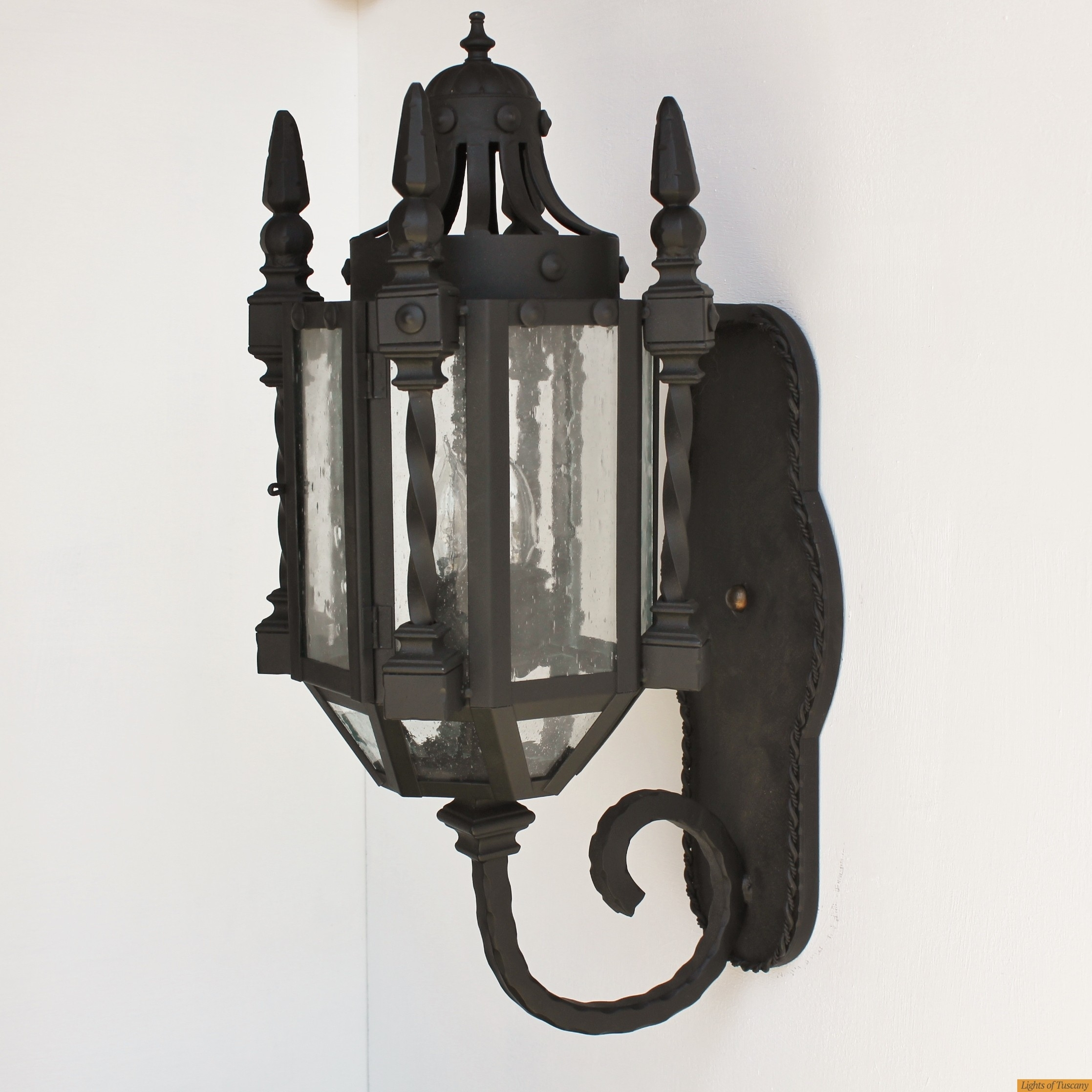 Lights Of Tuscany 7046 3 Wrought Iron Gothic/medieval Wall Lanter Intended For Gothic Outdoor Wall Lighting (View 3 of 15)