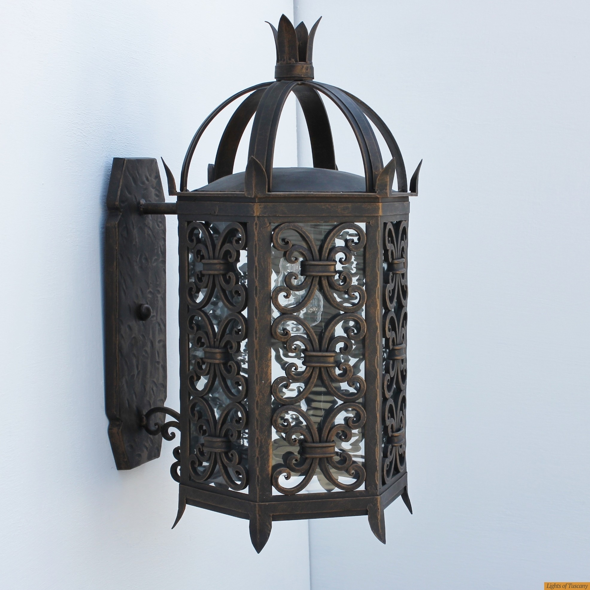 Lights Of Tuscany 7050 1 Spanish Moorish Outdoor Wall Lantern For Outdoor Exterior Wall Lighting (#9 of 15)
