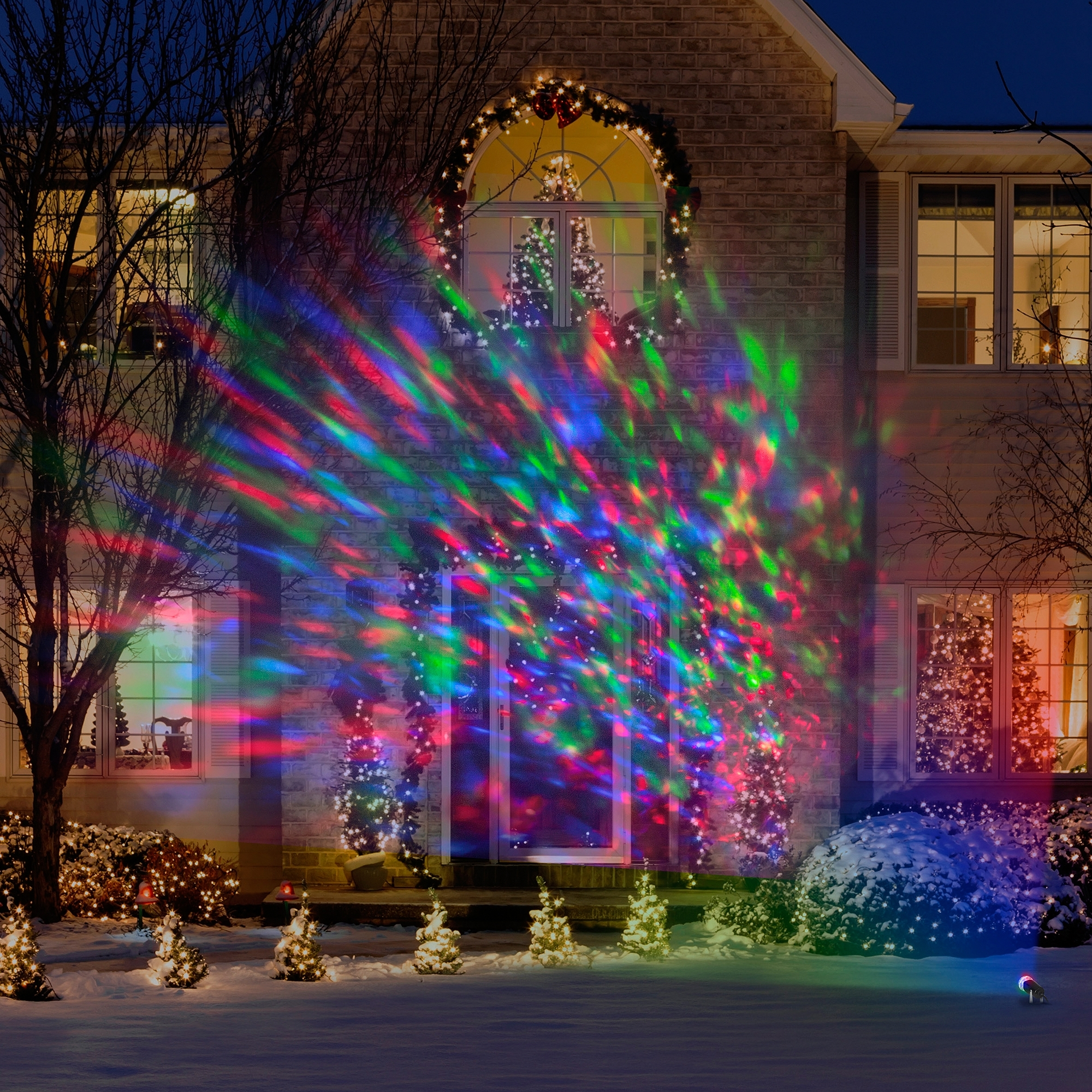 Popular Photo of Outdoor Wall Xmas Lights