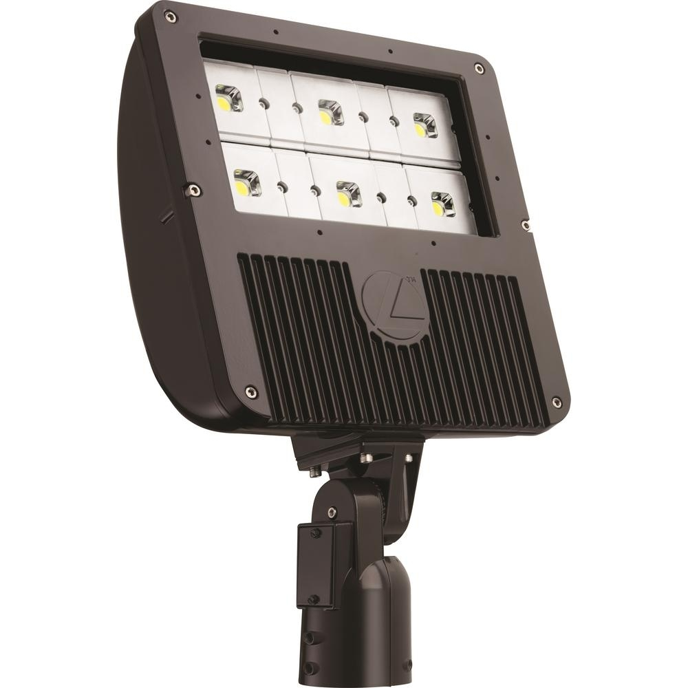 Lithonia Lighting 129  Watt Dark Bronze Outdoor Integrated Led Flood Inside Lithonia Lighting Wall Mount Outdoor Bronze Led Floodlight With Motion Sensor (#2 of 15)