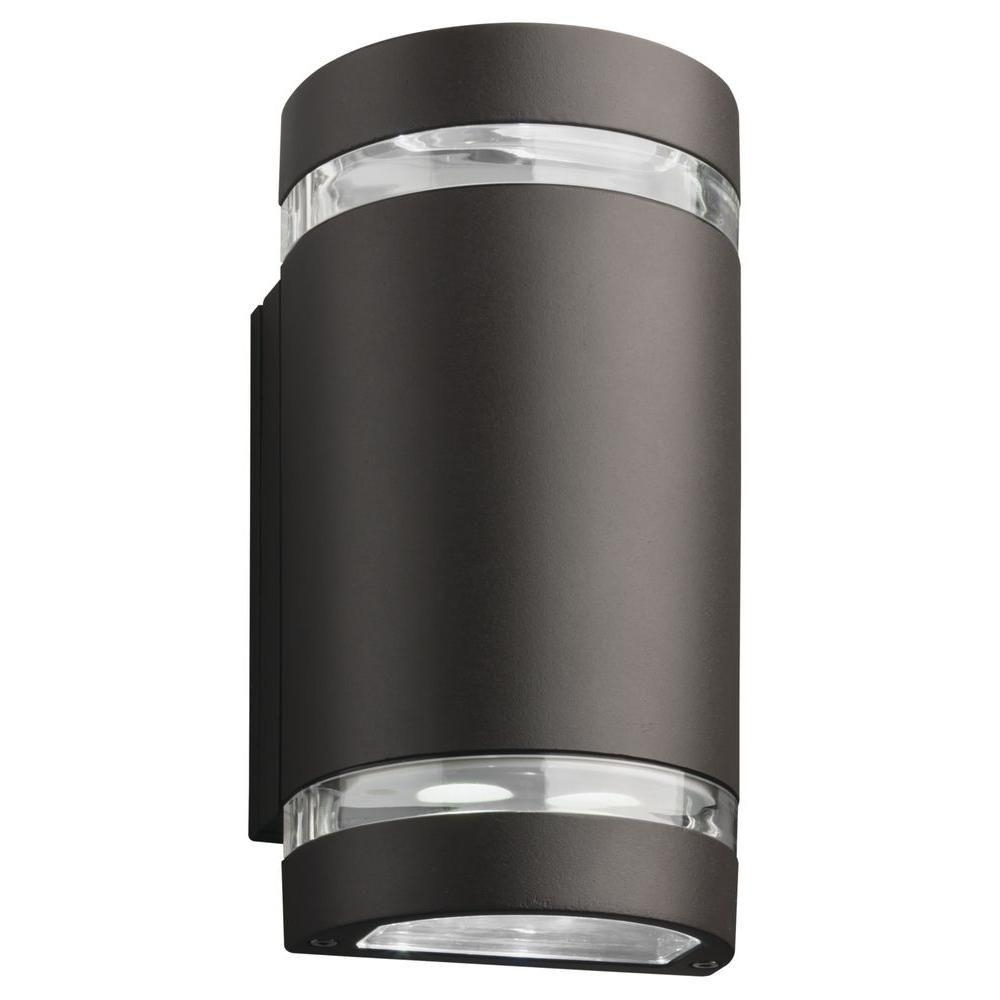 Lithonia Lighting 2 Light Wall Mount Outdoor Bronze Led Wall Intended For Outdoor Ceiling Downlights (#6 of 15)