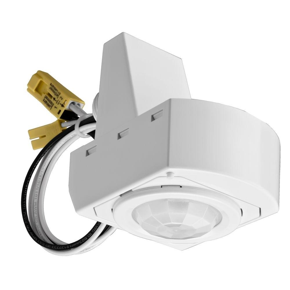 Lithonia Lighting 360° Mounted White Motion Sensor Fixture Msx12 Within Lithonia Lighting Wall Mount Outdoor White Led Floodlight With Motion Sensor (#5 of 15)