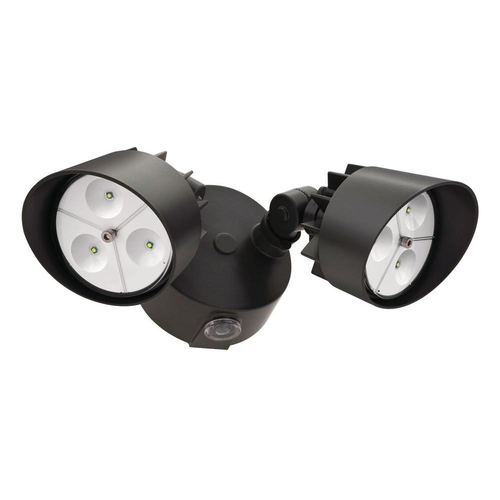 Lithonia Lighting Black Bronze Outdoor Led Wall Mount Flood Light Intended For Lithonia Lighting Wall Mount Outdoor Bronze Led Floodlight With Photocell (View 4 of 15)