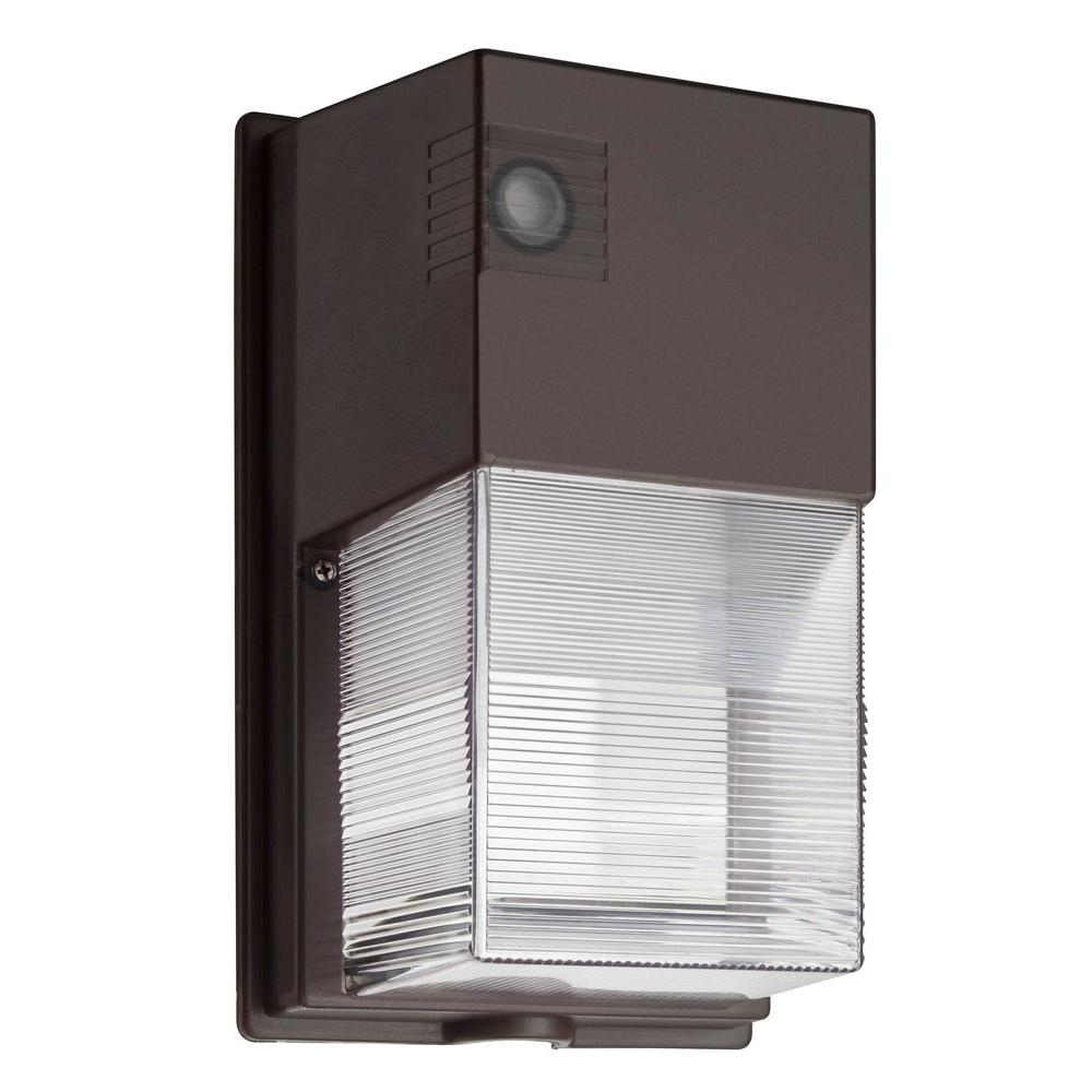Lithonia Lighting Bronze Led Outdoor Wall Mount Wall Pack Light Owp Throughout Outdoor Led Wall Lighting (#9 of 15)