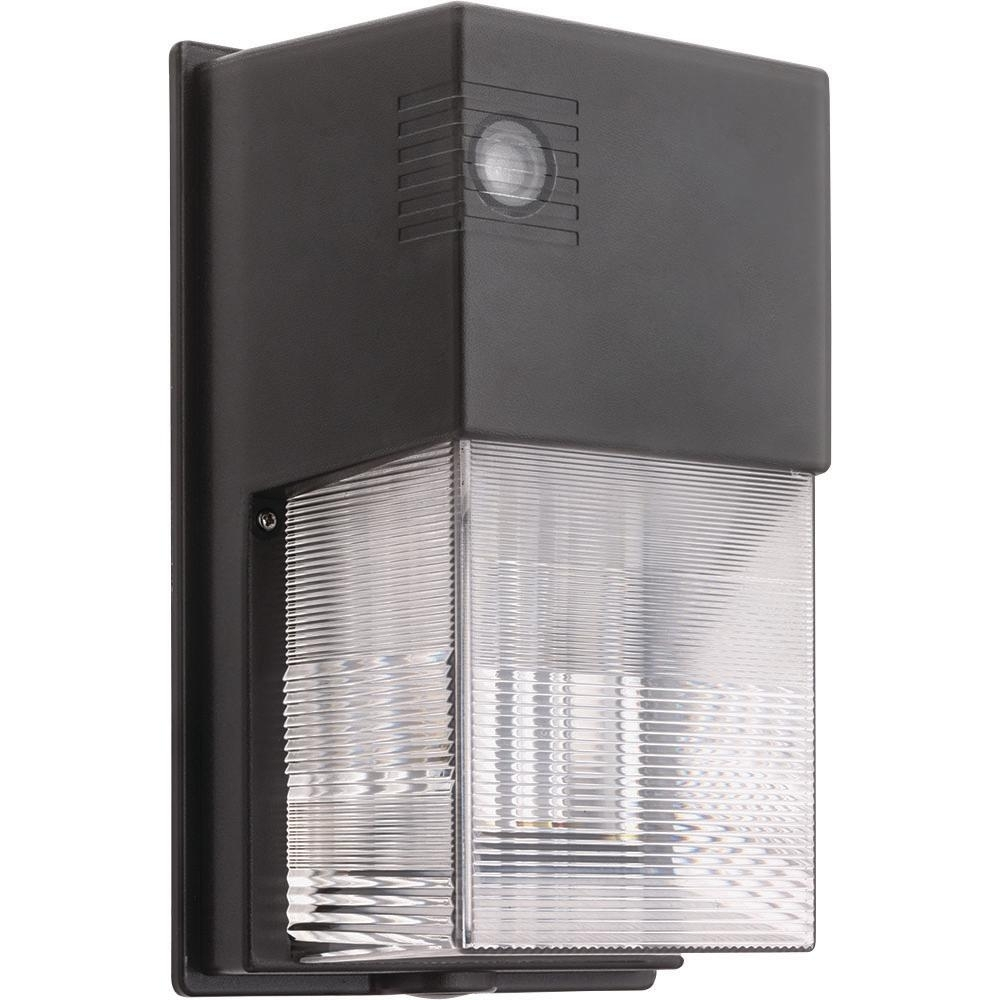 Lithonia Lighting Bronze Outdoor Integrated Led 5000K Wall Pack In Led Outdoor Wall Lights With Photocell (View 11 of 15)