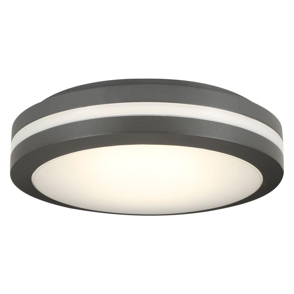 Lithonia Lighting Bronze Outdoor Integrated Led Decorative Flush Throughout Outdoor Led Ceiling Lights (View 4 of 15)