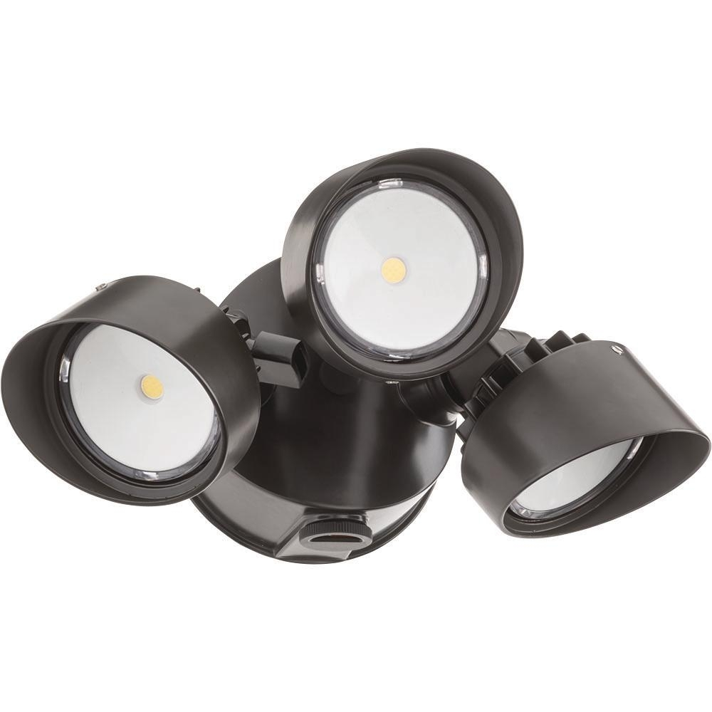 Lithonia Lighting Bronze Outdoor Integrated Led Round Wall Mount For Lithonia Lighting Wall Mount Outdoor Bronze Led Floodlight With Photocell (View 6 of 15)