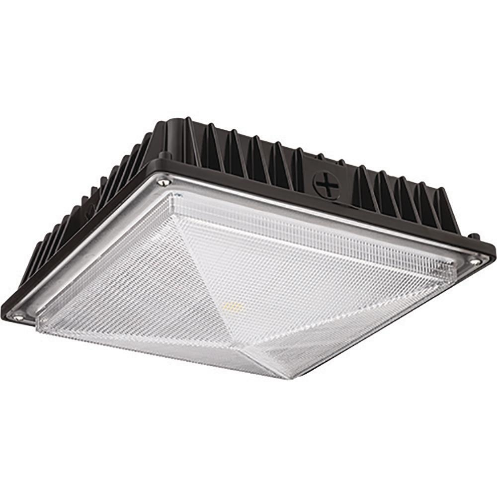Lithonia Lighting Bronze Outdoor Integrated Led Square Canopy Within Outdoor Led Ceiling Lights (View 7 of 15)