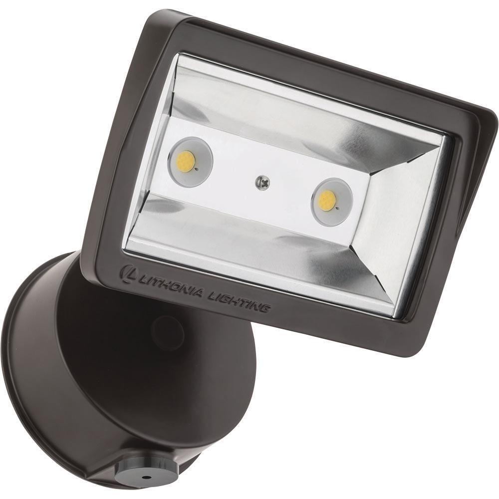 Lithonia Lighting Bronze Outdoor Integrated Led Wall Mount Flood In Lithonia Lighting Wall Mount Outdoor Bronze Led Floodlight With Photocell (View 9 of 15)