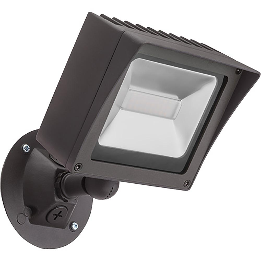 Lithonia Lighting Bronze Outdoor Integrated Led Wall Mount Flood With Lithonia Lighting Wall Mount Outdoor White Led Floodlight With Motion Sensor (#9 of 15)