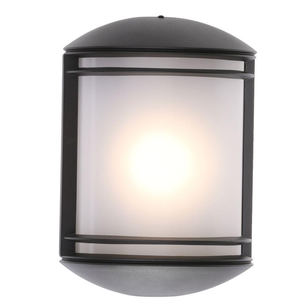 Lithonia Lighting Bronze Outdoor Integrated Led Wall Mount Sconce Throughout Modern Outdoor Light Fixtures At Home Depot (#13 of 15)