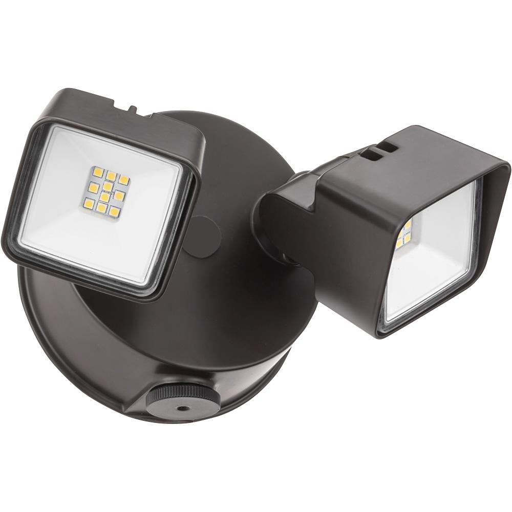 Lithonia Lighting Dark Bronze Adjustable Twin Head Integrated Led With Lithonia Lighting Wall Mount Outdoor Bronze Led Floodlight With Photocell (View 12 of 15)