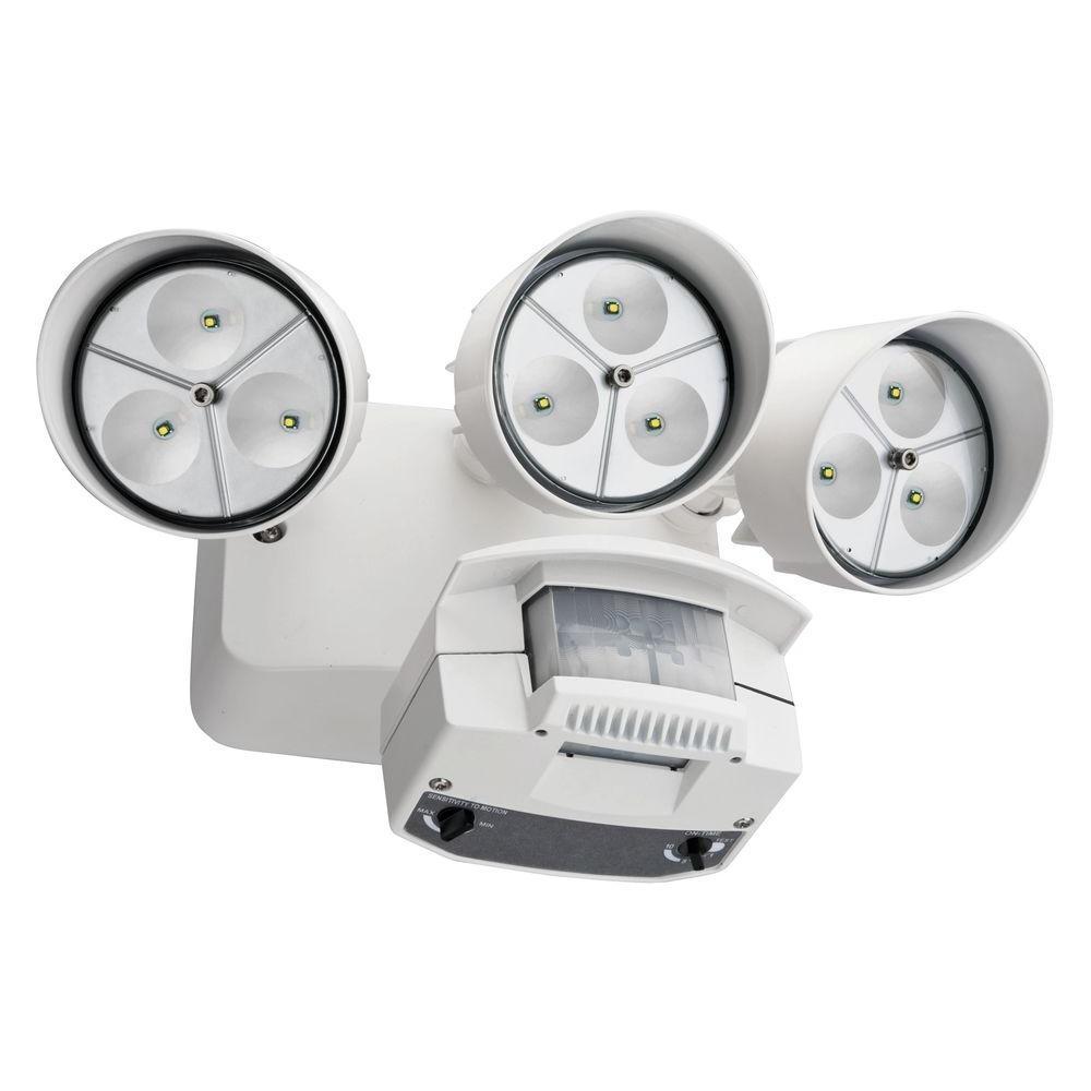Lithonia Lighting White Motion Sensor Outdoor Flood Light Led Oflr Pertaining To Lithonia Lighting Wall Mount Outdoor White Led Floodlight With Motion Sensor (#12 of 15)