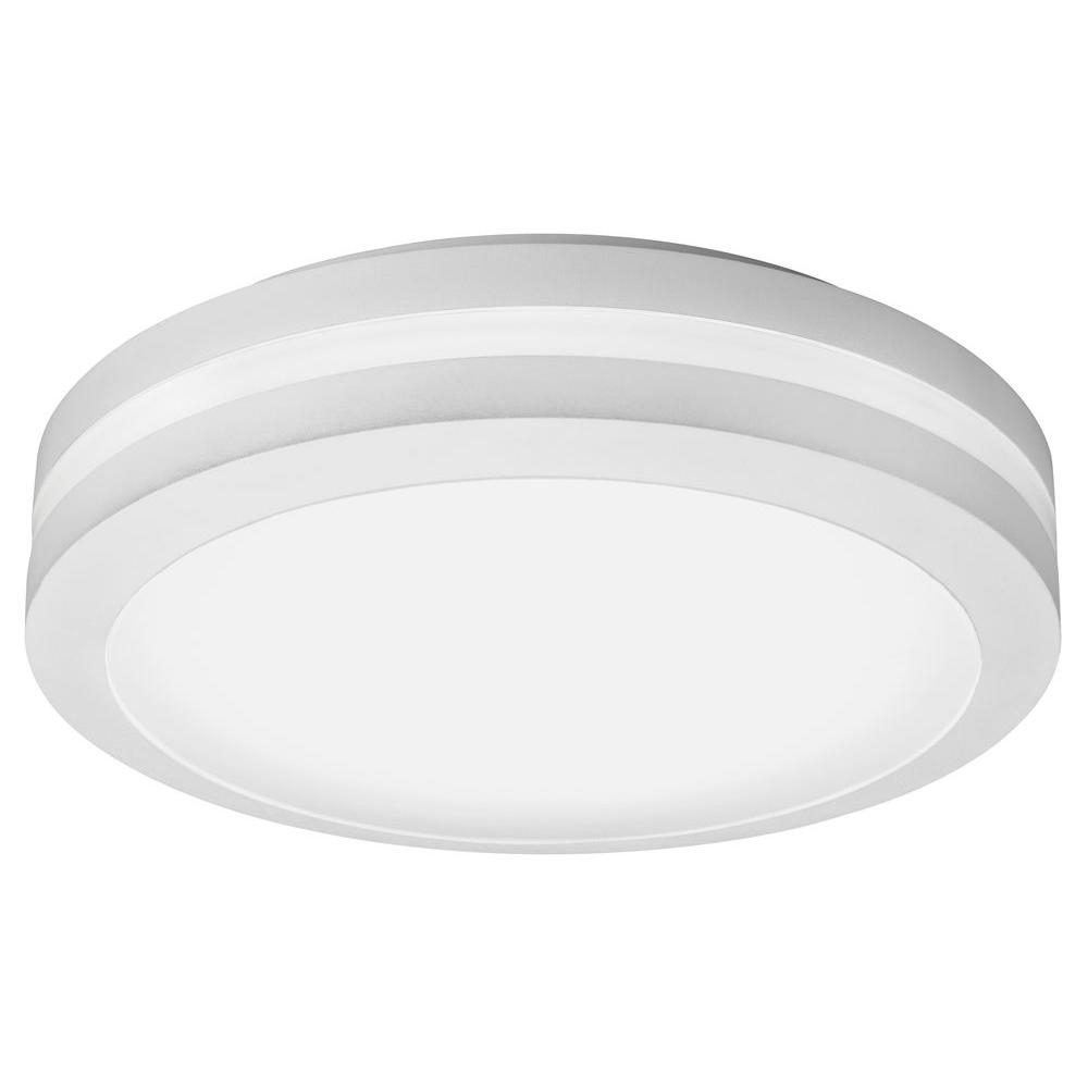 Lithonia Lighting White Outdoor Integrated Led Decorative Flush Within Outdoor Led Porch Ceiling Lights (#9 of 15)