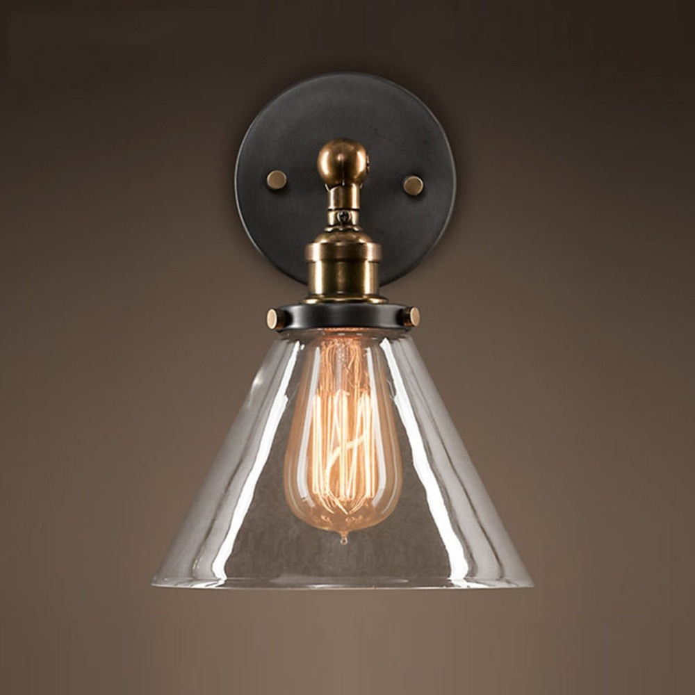 Loft Industrial Wall Sconce American Vintage Wall Lamp Retro Outdoor With Industrial Outdoor Wall Lighting (#11 of 15)