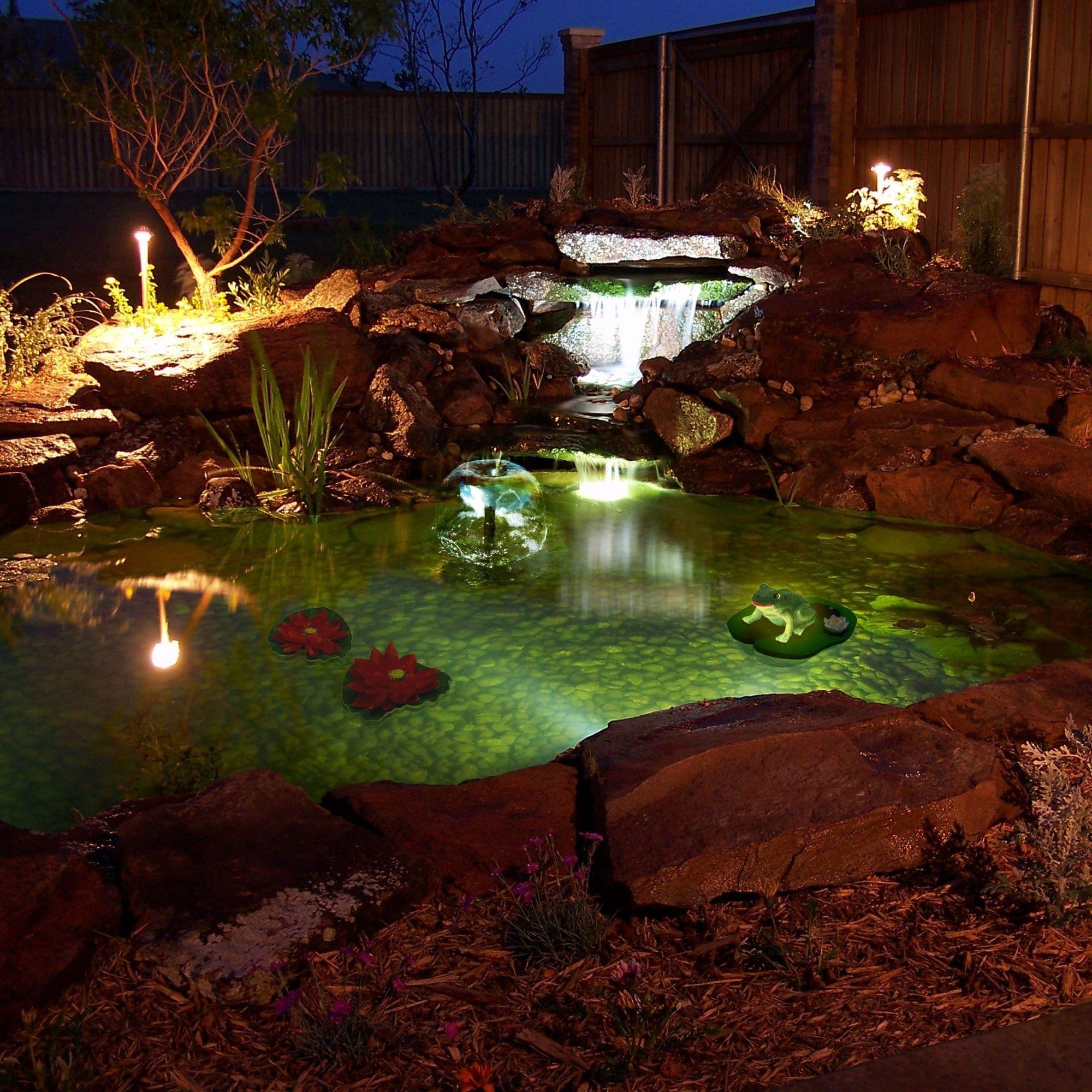 Love! Algreen Pond Kit With Solar Lighting | Wayfair | Ponds Intended For Modern Outdoor Solar Lights At Wayfair (#6 of 15)