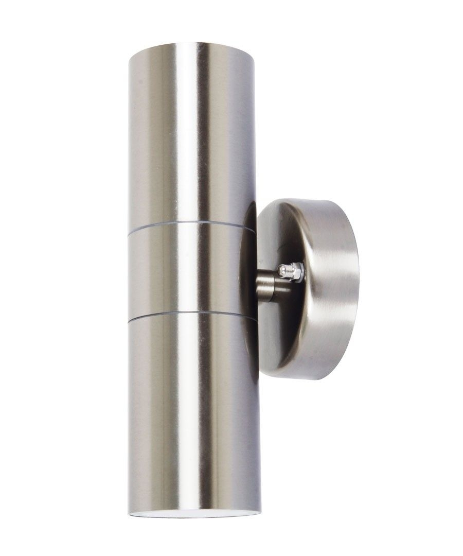 Lucci Project Up/down Exterior Wall Bracket In Stainless Steel $40 Regarding Beacon Outdoor Wall Lighting (#7 of 15)