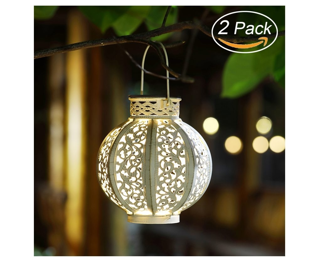 Maggift 2 Pack Hanging Solar Lights Outdoor Retro Hanging Solar Inside Outdoor Hanging Solar Lanterns (#7 of 15)