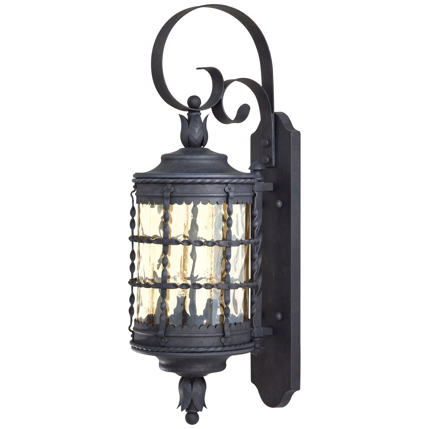 Mallorca Exterior Wall Mount Minka Lavery Wall Mounted Outdoor Intended For Large Outdoor Wall Light Fixtures (#12 of 15)