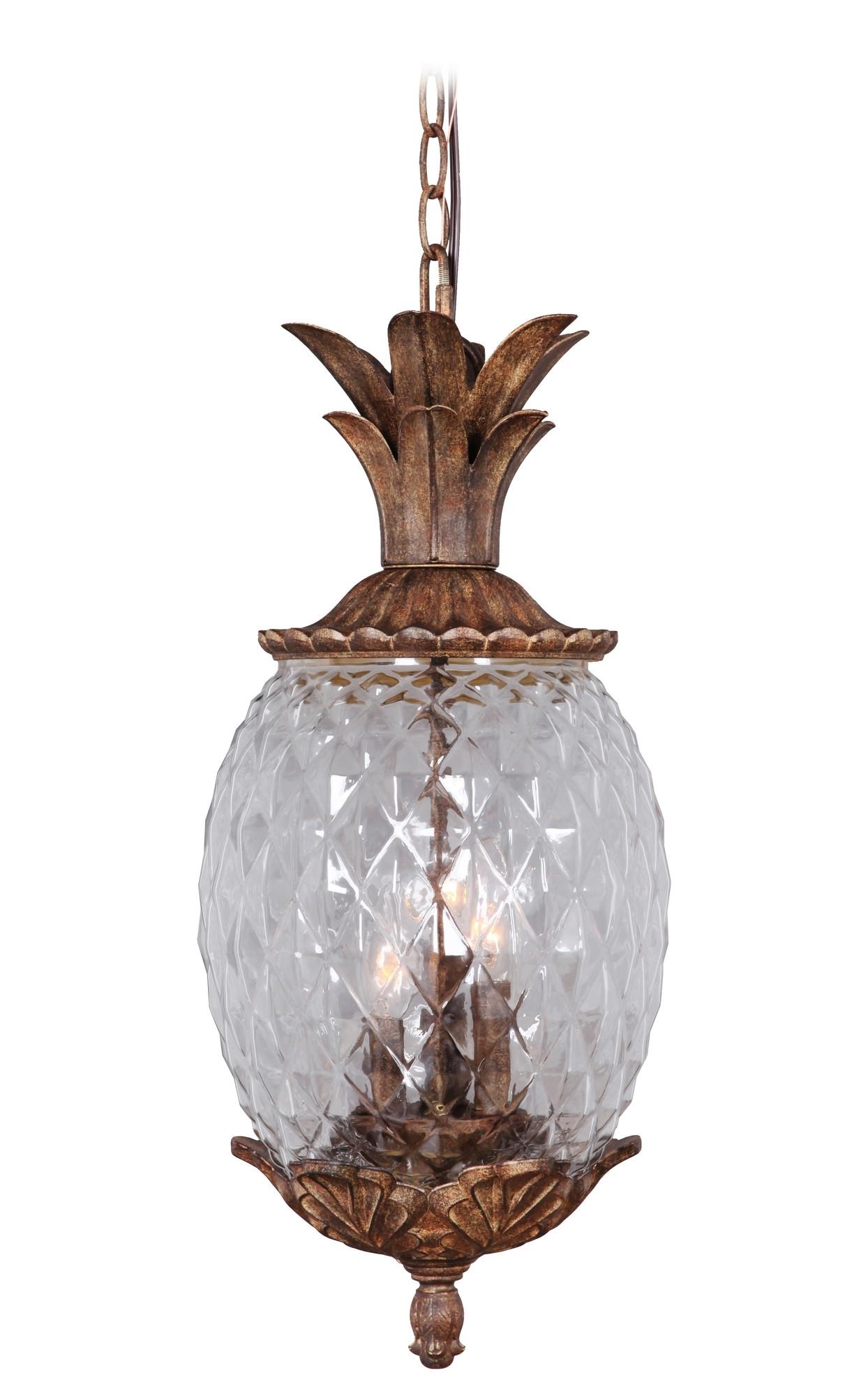 Marianahome Pineapple 3 Light Pendant & Reviews | Wayfair | Lighting In Outdoor Lighting Fixtures At Wayfair (View 9 of 15)