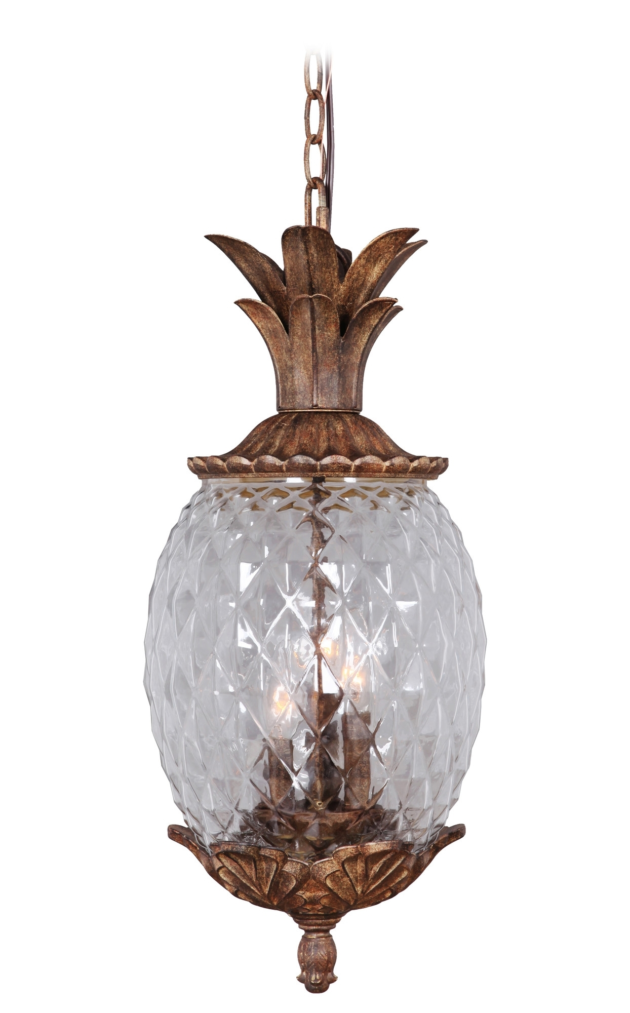 Marianahome Pineapple 3 Light Pendant & Reviews | Wayfair | Lighting Pertaining To Outdoor And Garden String Lights At Wayfair (#7 of 15)