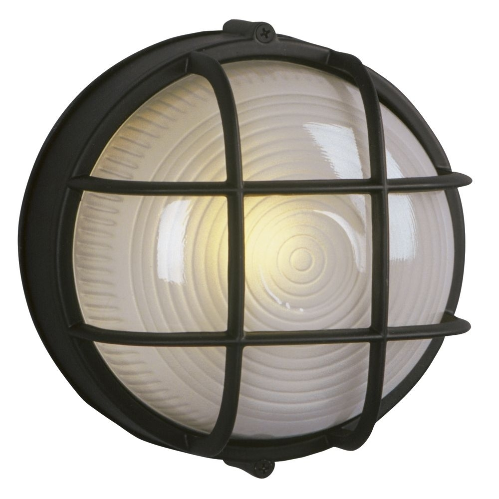 Inspiration about Marine Bulkhead Outdoor Wall Light In Black | 305012 Bk Intended For Outdoor Ceiling Bulkhead Lights (#8 of 15)