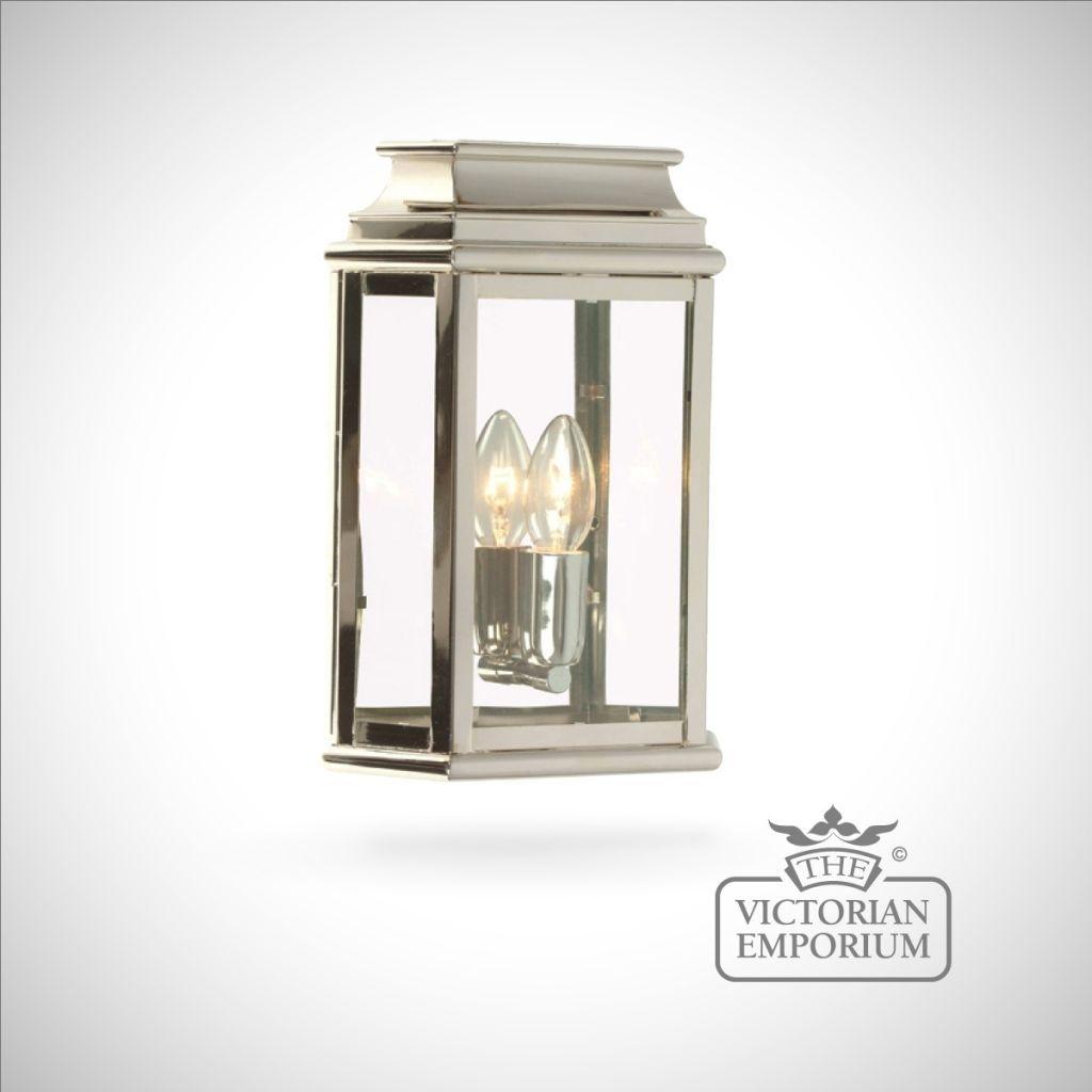 Martins Brass Wall Lantern – Polished Nickel – Outdoor Wall Lights In Nickel Polished Outdoor Wall Lighting (#14 of 15)