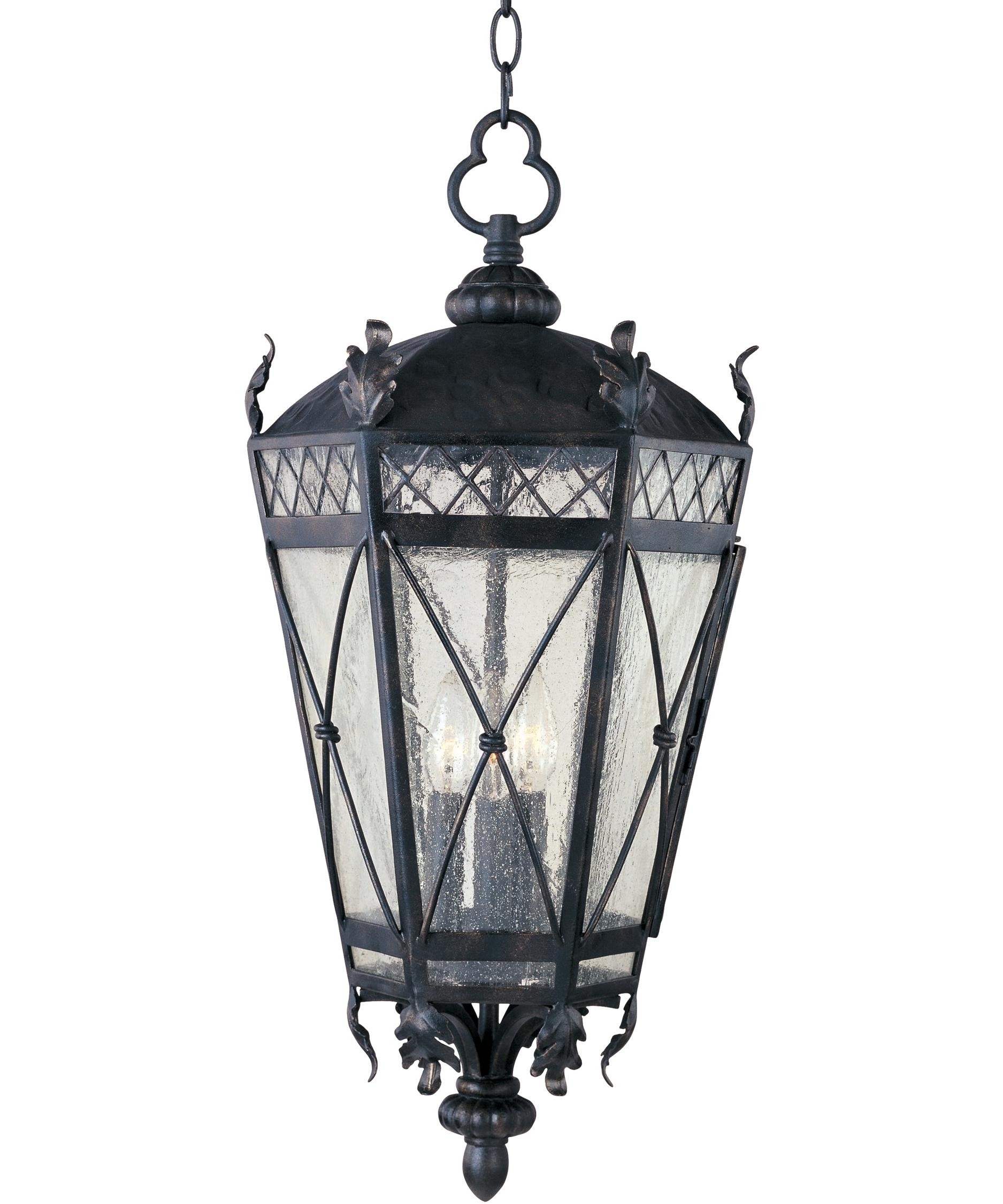 Inspiration about Maxim Lighting 30459 Canterbury 12 Inch Wide 3 Light Outdoor Hanging With Regard To Outdoor Hanging Glass Lanterns (#11 of 15)
