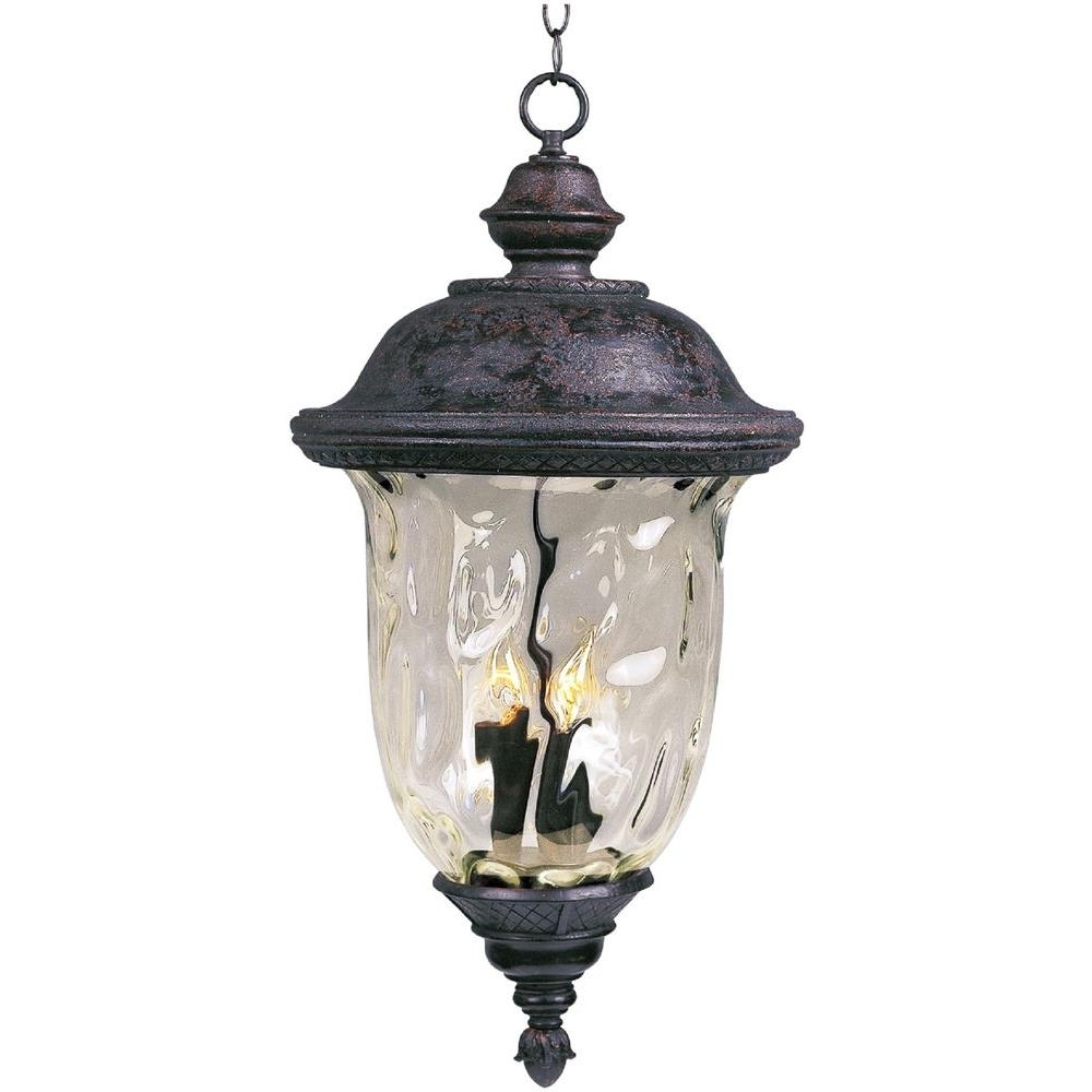 Maxim Lighting Carriage House Die Cast 3 Light Oil Rubbed Bronze In Outdoor Hanging Carriage Lights (#10 of 15)