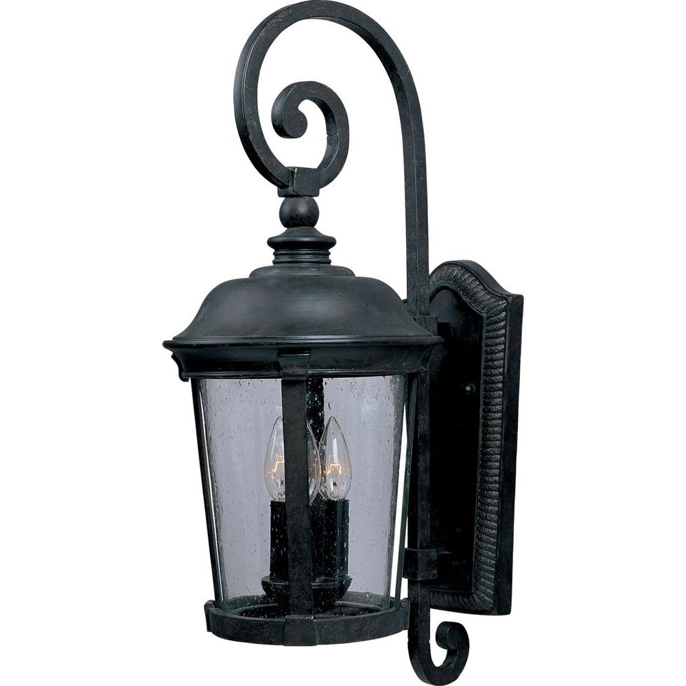 Maxim Lighting Dover Vx 3 Light Bronze Outdoor Wall Mount 40094Cdbz Pertaining To Tropical Outdoor Wall Lighting (#7 of 15)
