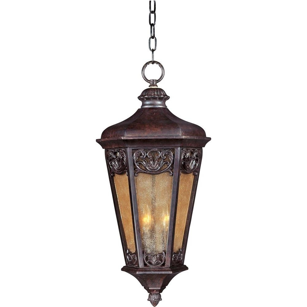 Maxim Lighting Lexington Vivex 3 Light Colonial Umber Outdoor In Electric Outdoor Hanging Lanterns (#9 of 15)