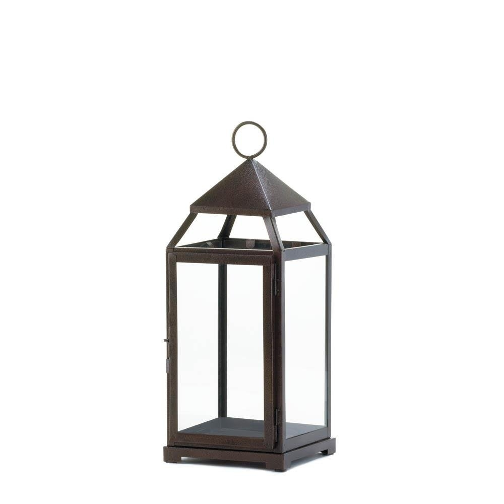 Metal Lantern, Large Contemporary Hanging Decorative Floor Patio Inside Outdoor Hanging Decorative Lanterns (#10 of 15)