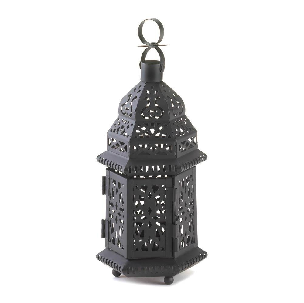 Inspiration about Metal Lanterns, Moroccan Hanging Decorative Floor Patio Lantern Intended For Outdoor Hanging Metal Lanterns (#2 of 15)