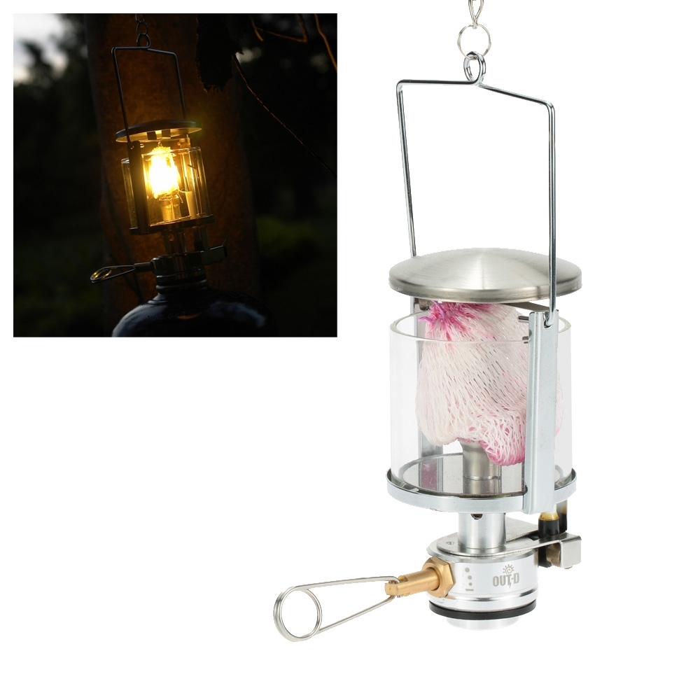 Mini Gas Lantern 60Lux 600W Outdoor Camping Tool Aluminum Light Tent For Outdoor Hanging Gas Lights (View 14 of 15)