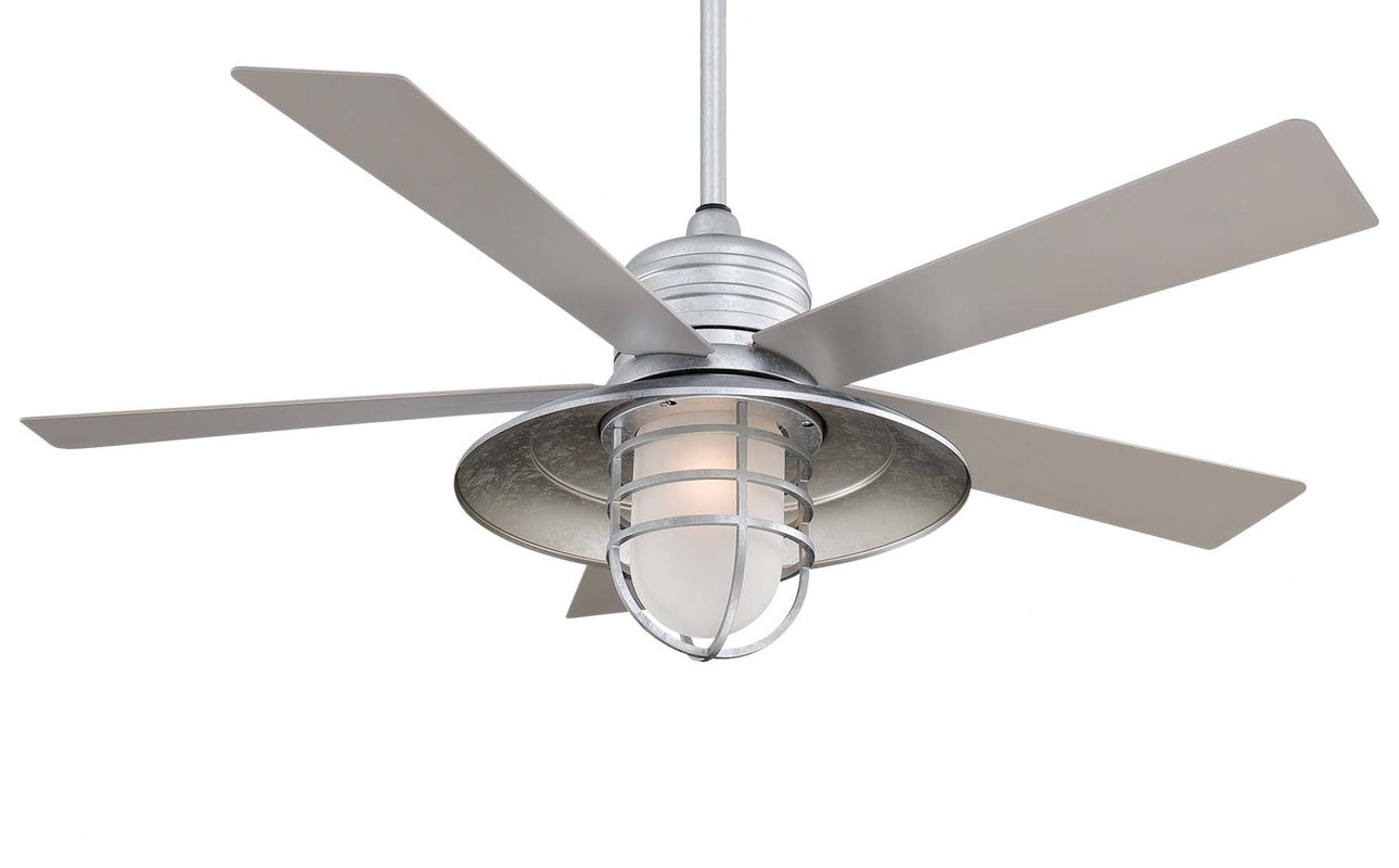 "Minka Aire 54"" Rainman 5 Blade Outdoor Led Ceiling Fan & Reviews Intended For Outdoor Ceiling Fans With Led Lights (#11 of 15)"