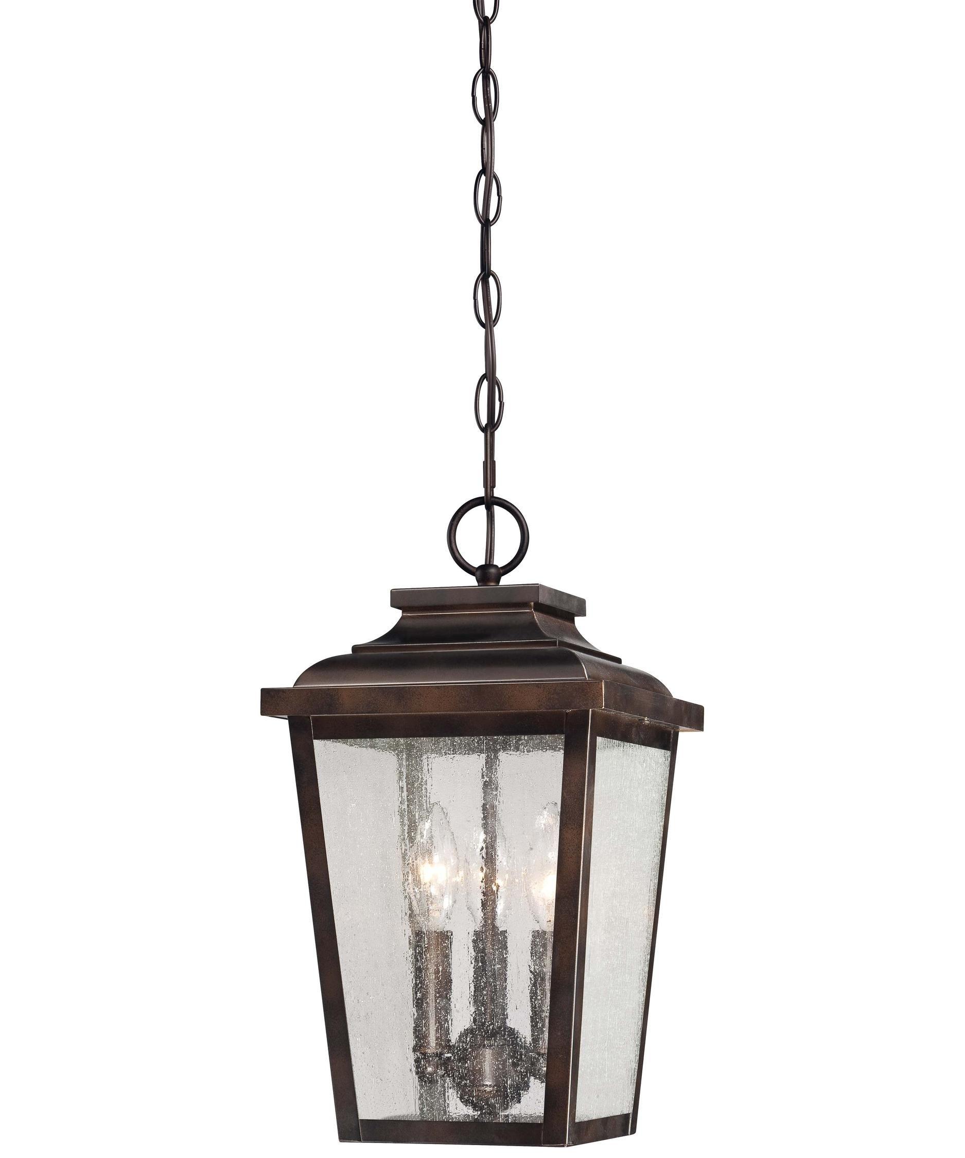 Minka Lavery 72174 Irvington Manor 3 Light Outdoor Hanging Lantern Regarding Outdoor Hanging Lights (View 4 of 15)