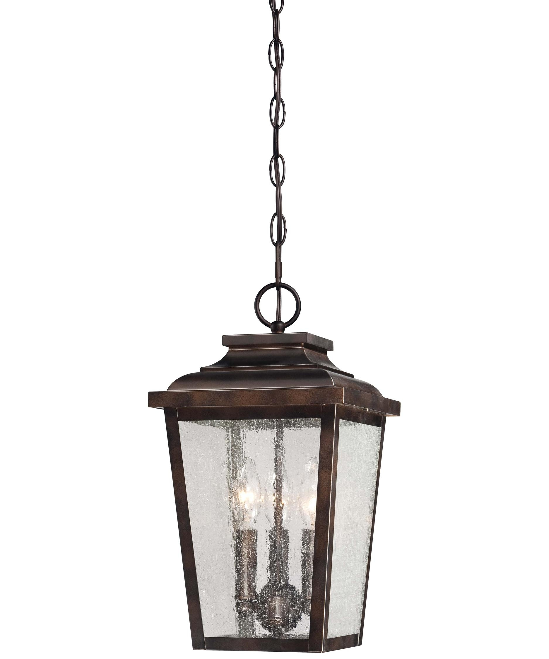 Minka Lavery 72174 Irvington Manor 9 Inch Wide 3 Light Outdoor Throughout Outdoor Hanging Glass Lights (View 4 of 15)