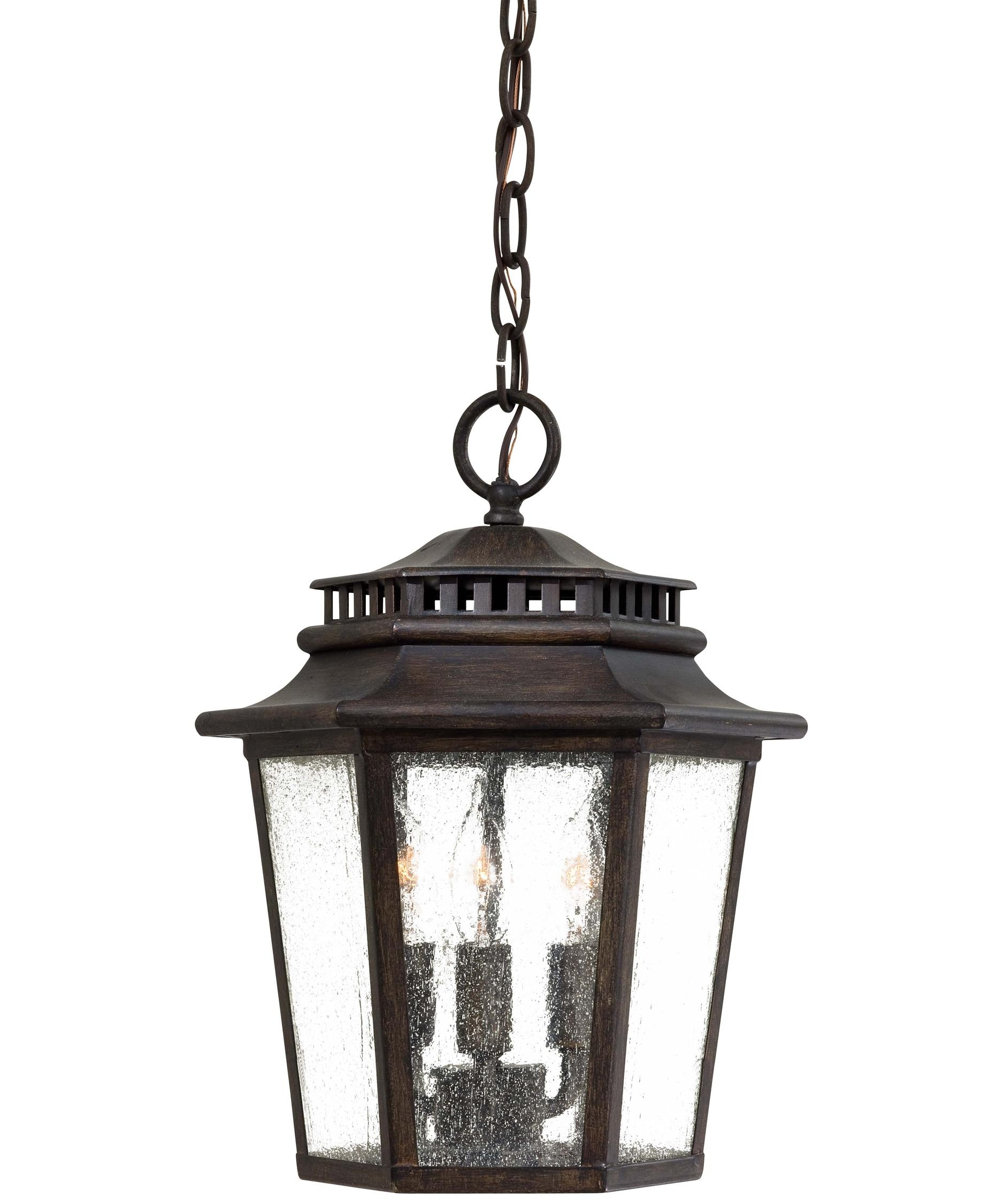 Minka Lavery 8274 Wickford Bay 11 Inch Wide 3 Light Outdoor Hanging Inside Outdoor Iron Hanging Lights (#6 of 10)